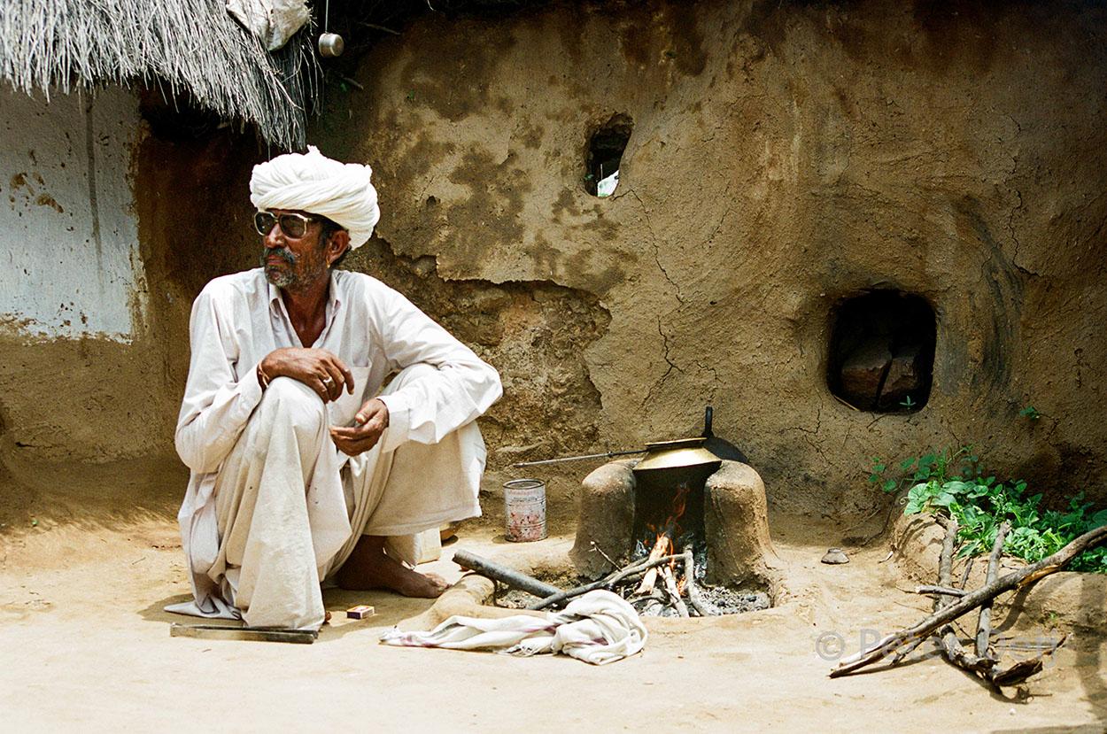 india - 2001_man in village